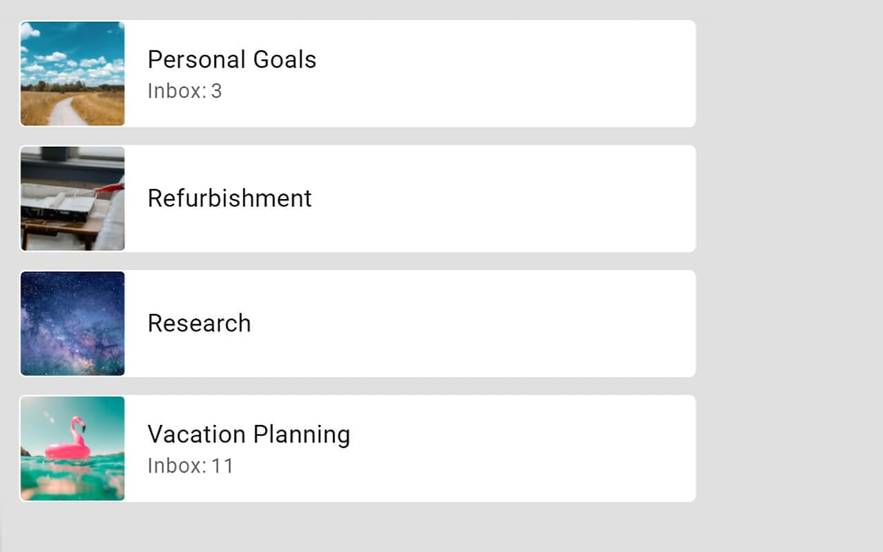 Create your personal dashboard with all important tasks.